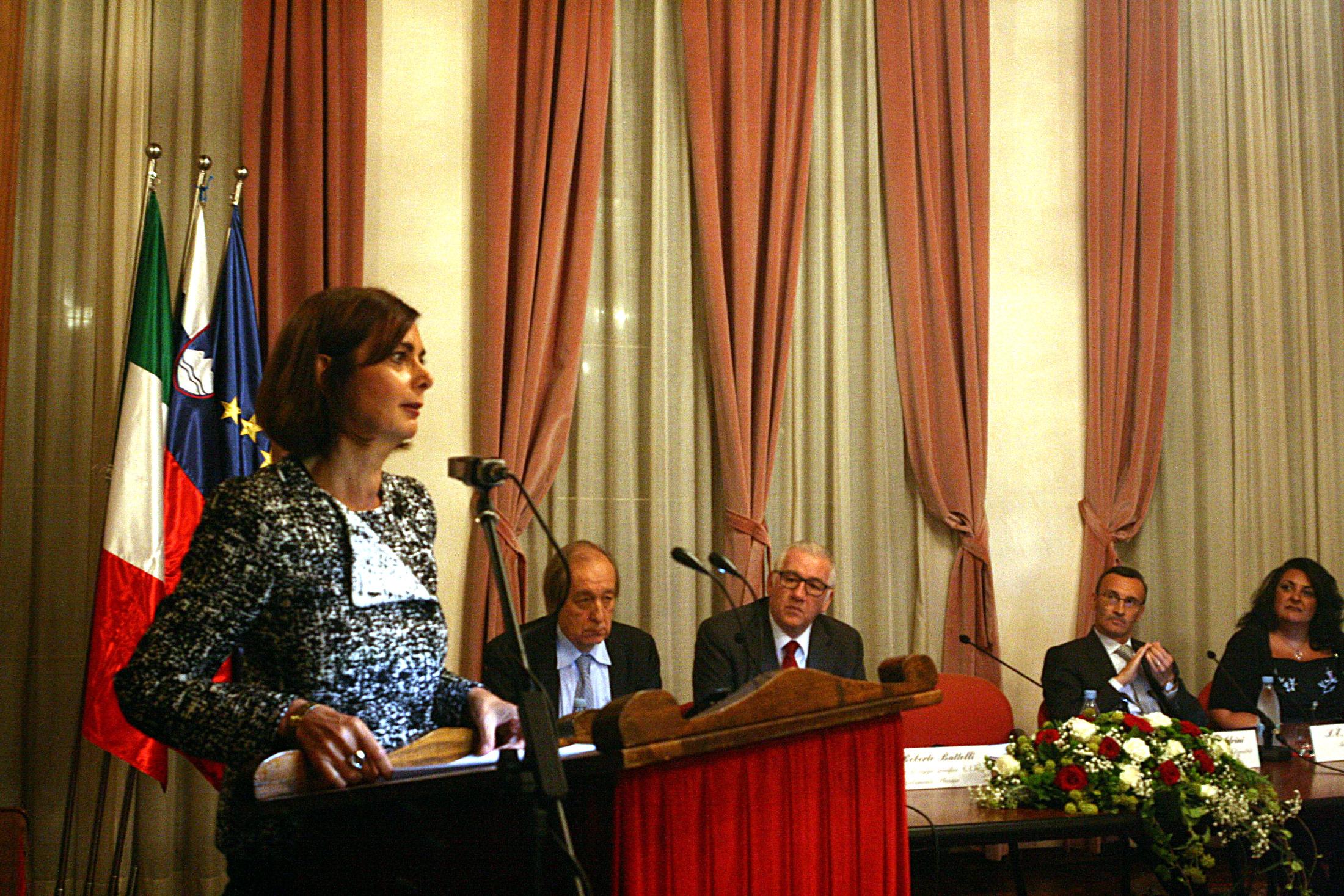 Discorso Camera Boldrini : La presidente della camera laura boldrini in slovenia il mandracchio
