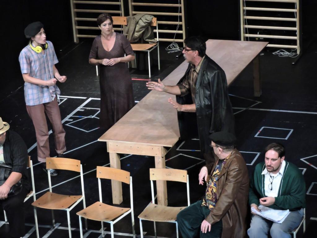 Gli attori in scena