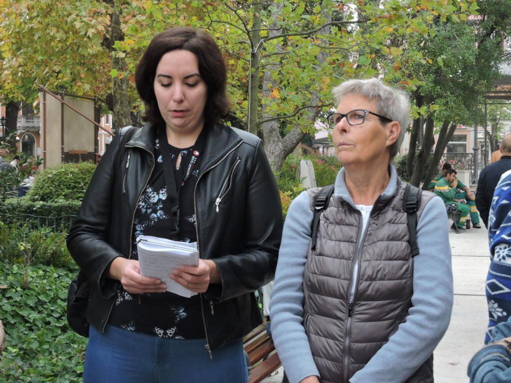 Le guide Jessica Vodopija e Daniela Paliaga