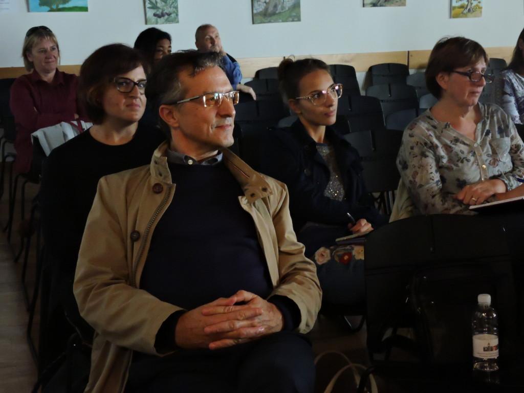 Tra il pubblico i consiglieri comunali Ambra Šlosar Karbič e Felice Žiža