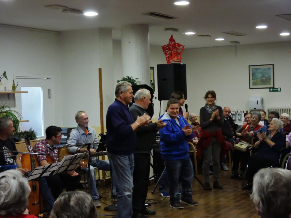I Piasa Picia vengono applauditi dal pubblico